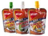 Energy Drink  �In een minimum van tijd een maximum aan energie!  �Vloeibare voeding op basis van snel opneembare koolhydraten (hoge glycemisch index)  �Licht verteerbaar.  �Stevige, lichte, soepele en hersluitbare verpakking   � 2,30 p.s.